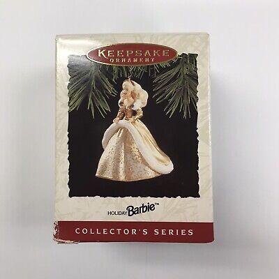 NEW 1994 Hallmark Keepsake Holiday Barbie with Gold Dress Christmas Ornament