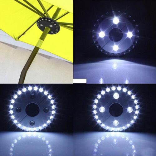 Patio Regenschirm Pole Licht 28 LED Garten Hof Rasen Nachtlicht Cordless Drausse