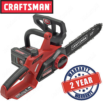 "Craftsman 10"" Electric Cordless Chainsaw, 24V Max Lithium-Io"