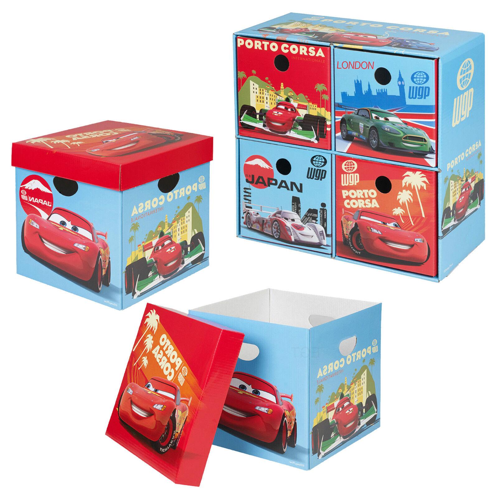 disney cars carton bo tes de rangement jouets lettres salle de jeux boite buffet ebay. Black Bedroom Furniture Sets. Home Design Ideas