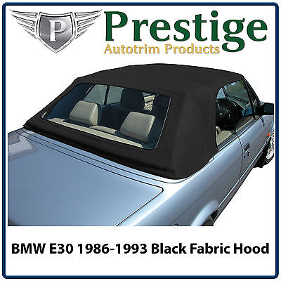 BMW 3 Series E30 Mohair Fabric Car Hood Hoods Top Soft Tops Roof Black 1986-1993