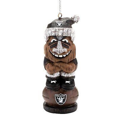 Oakland Raiders Football NFL Resin Mini Tiki Holiday Christmas Tree Ornament
