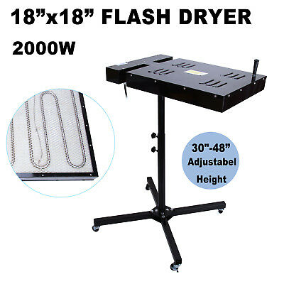 18 X 18 Flash Dryer Silk Screen Printing Equipment T-shirt Curing Heating