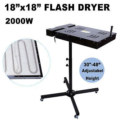 Ridgeyard 18x18 Flash Dryer Silk Screen Printing Equipment T-shirt Curing 2000w