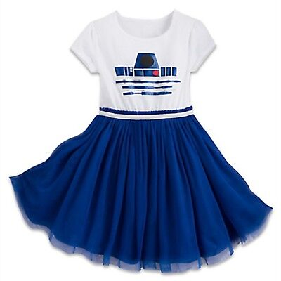Disney Store Parks R2-D2 Girl Tutu Dress Up Kids Costume Star Wars Force Droid - Star Wars Kids Dress Up
