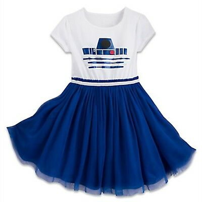 Disney Store Parks R2-D2 Girl Tutu Dress Up Kids Costume Star Wars Force Droid - Kids R2d2 Costume
