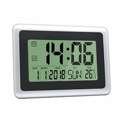 HeQiao Digital Wall Clocks Large Decorative Silent Desk Clock Battery Operate...