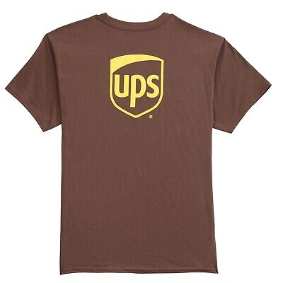 Chocolate Brown T-shirt (NEW UPS UNITED PARCEL SERVICE MENS COLLECTIBLE CHOCOLATE BROWN PROMO TEE T-SHIRT)