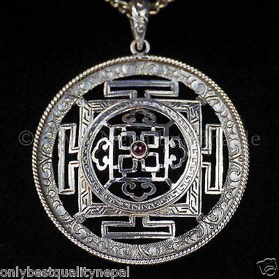 Amulet Buddha Silver Top Quality Dharma Mandala Lama Buddha Buddhism 134G