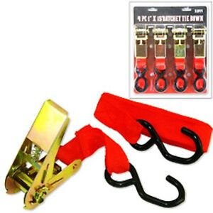 4-pc-1-X-15-Ratchet-Tie-Down-Load-Binder-Cargo-Strap