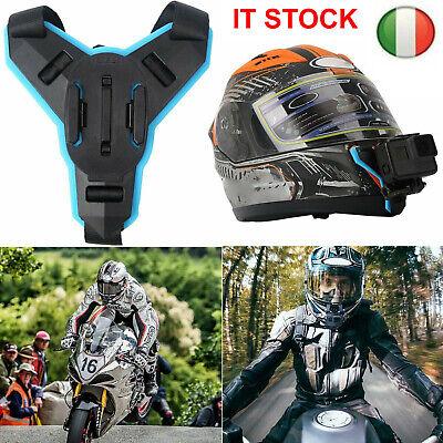Casco da Moto Supporto Bicicletta Helmet Chin Per Gopro Hero 6/5/4 XiaoYi Camera