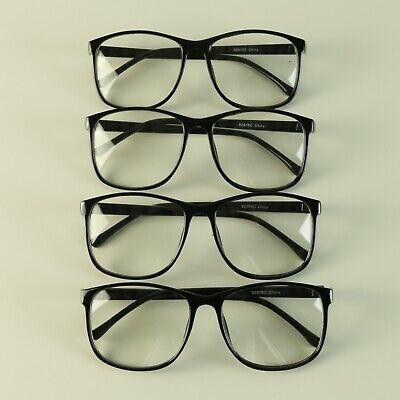 Wholesale 12 Party Pack Oversized Round Frame Black Frame Clear Lens Eyeglasses