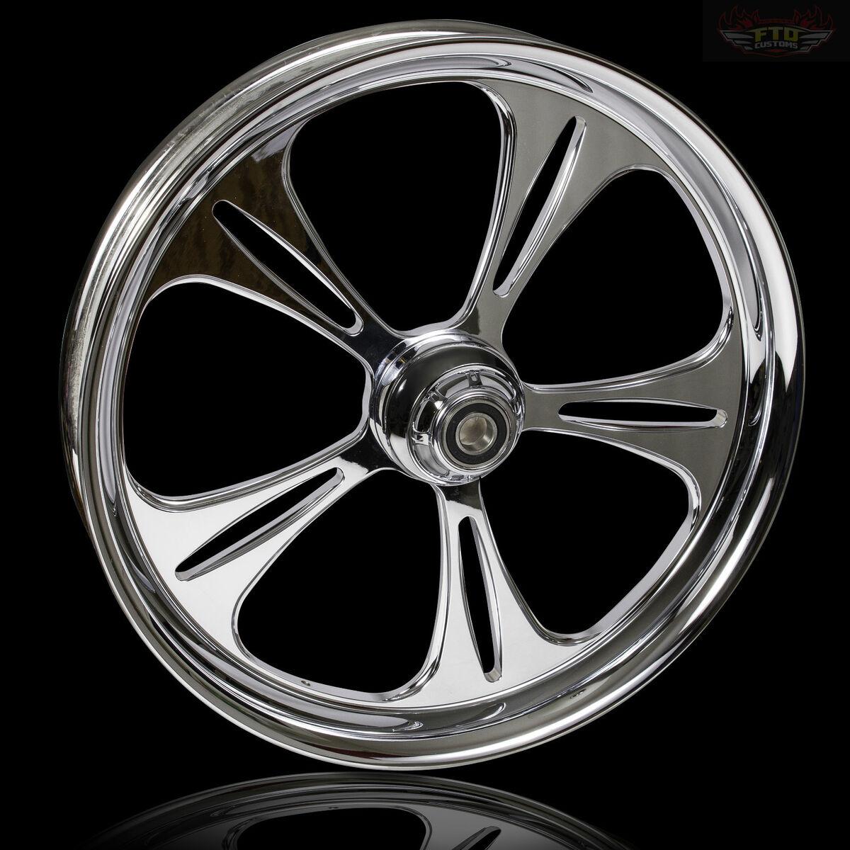 "Harley Davidson 21"" inch Chrome Wheel "" The Raptor"" Harley Custom Wheel"