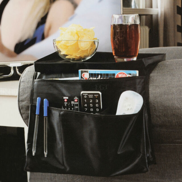 6 Pocket Arm Chair Armrest Organiser Couch Sofa TV Remote Control Food Holder
