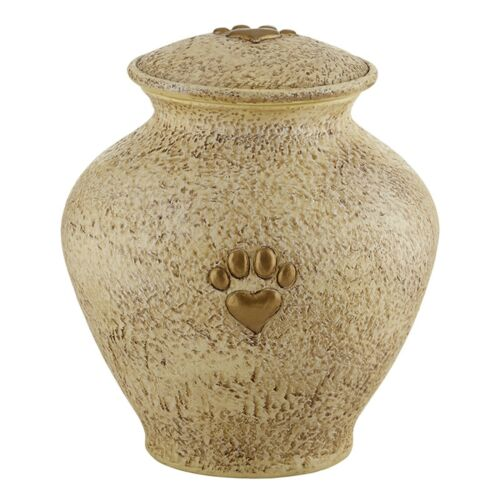 Pet Paw Cremation Urn for Ashes Cat Dog Pet Memorial Keepsake