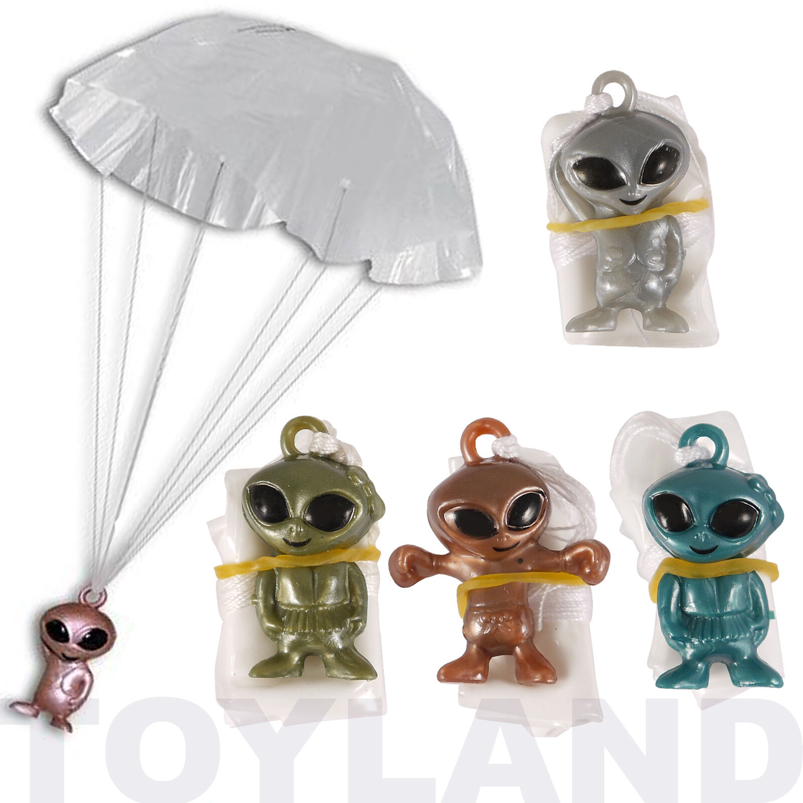 2 x MINI GALAXY SPACE ALIEN PARACHUTES BOYS TOY GIFT BIRTHDAY PARTY BAG FILLERS