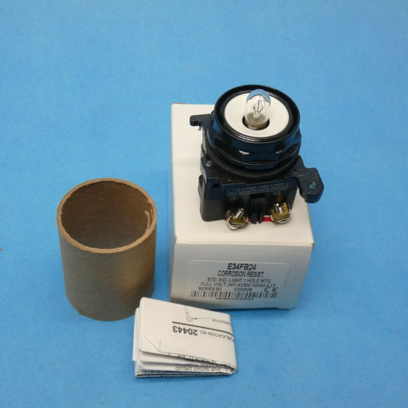 Cutler Hammer E34FB24 Series B2 Pilot Light 30.5 MM 24VAC/DC No Lens
