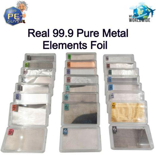 Periodic Table Element Foils Samples Palladium Gold Cobalt  99.9% + 25mm x 50mm