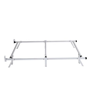 intelliBASE Low Profile Adjustable Twin Full Queen Box Spring Bed Frame White