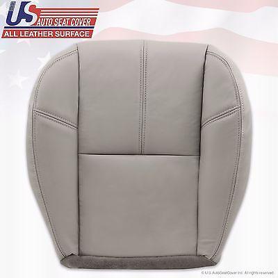 2007 - 2014 Chevy Tahoe Suburban Passenger Bottom Leather Seat Cover Light Gray