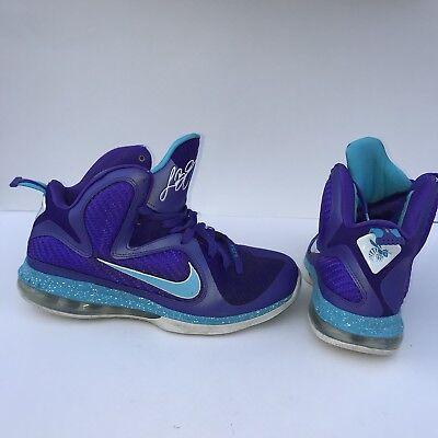 412a24c2b93a Nike Lebron 9 Summit Lake Hornets Men s Size 9 Purple Basketball Shoes IX