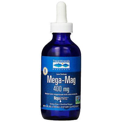 Mega-Mag  Ionic Magnesium Drops ConcenTrace Vegan Non-GMO 118ml
