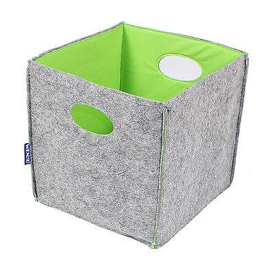Wenko Aufbewahrungskorb Filz Korb Grau Grün 33x32x33cm 34L Korb Box