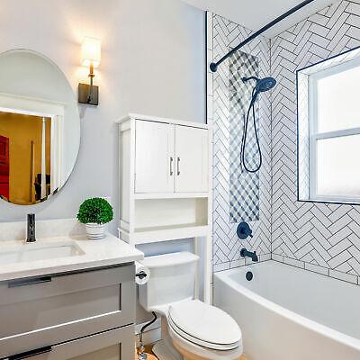 Zenvida Over Toilet Storage Cabinet Bathroom Organizer White Wht Bath Cabinet
