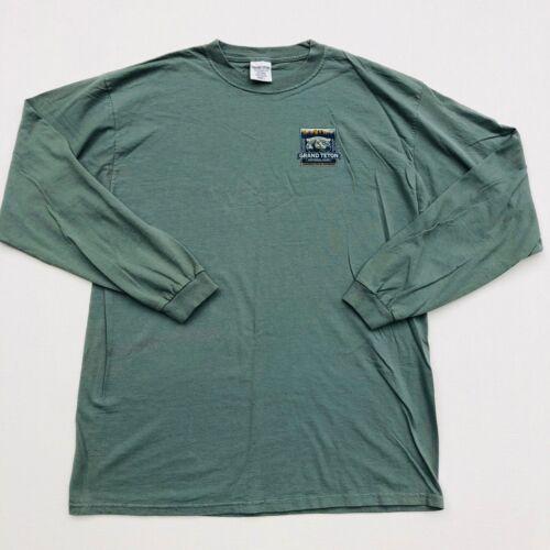 Grand Teton National Park Jackson Hole Wyoming Backcountry Long Sleeve T-Shirt L