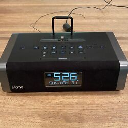 iHome IDL45 Dual Charging Stereo FM Clock Radio With Lightning Dock and USB
