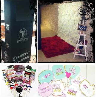 $220 Photo Booth + Flower Wall HIRE