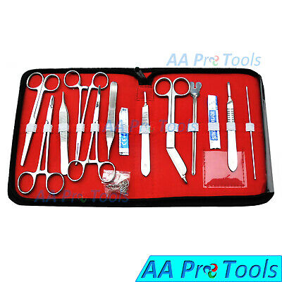 Minor Surgery Set 18 Pieces Surgical Instruments Kit Stainless Steel New