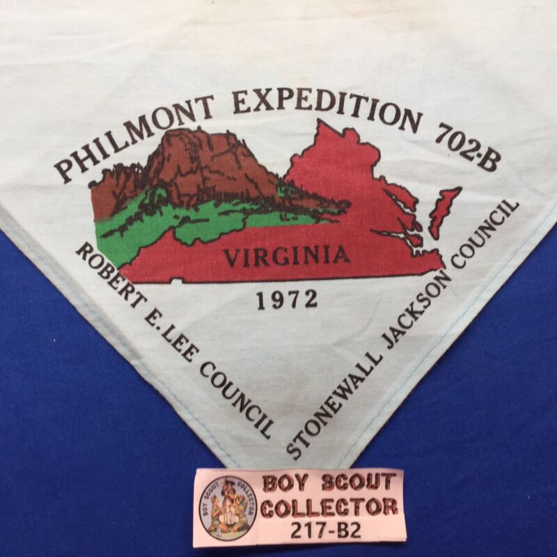 Boy Scout 1972 Rebert E. Lee & Stonewall Jackson Council Philmont Neckerchief