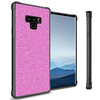 Hot Pink Glitter Design Slim Fit Hard Phone Cover Case for Samsung Galaxy Note 9 Hot Pink Design