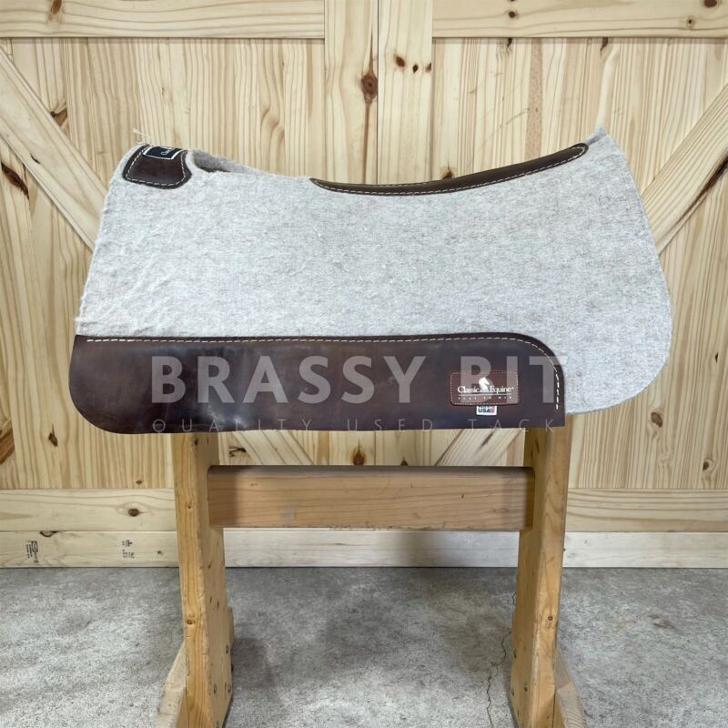 """25"""" Classic Equine Felted Wool Saddle Pad"""