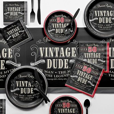Vintage Dude 50th Birthday Party Supplies Kit](Vintage Dudes)