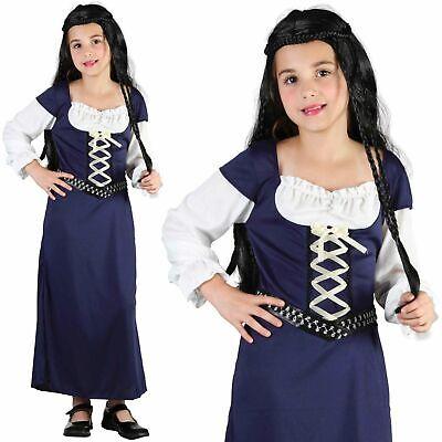 Maid Marion Mittelalter Tudor Königin Mädchen Kostüm Kinder Buch Woche - Maid Marion Kostüm Kinder