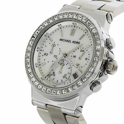Michael Kors MK5585 Blair Mother Pearl Glitz Silver Women's Watch