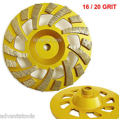 7 Diamond Cup Grinding Wheel 1620 Grit For Concrete Epoxy Removal 58-11