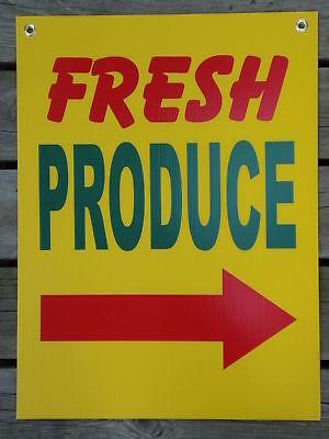 Fresh Produce Coroplast Indooroutdoor Sign 18x24 Right