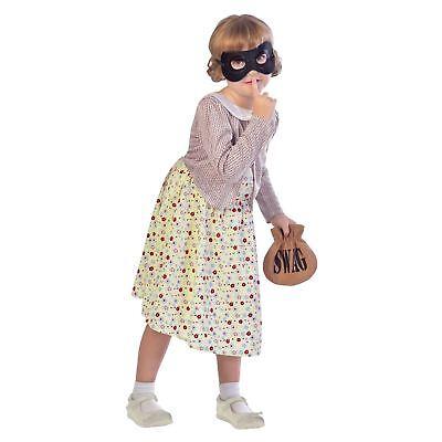 NEU Mädchen Buchwoche NEU OAP Einbrecher Oma Oma Gangster (Einbrecher Kostüm Maske)