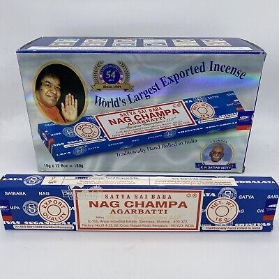 SATYA NAG CHAMPA AGARBATTI INCENSE STICKS 10/15/40/100/250/500 GRAM PACKS