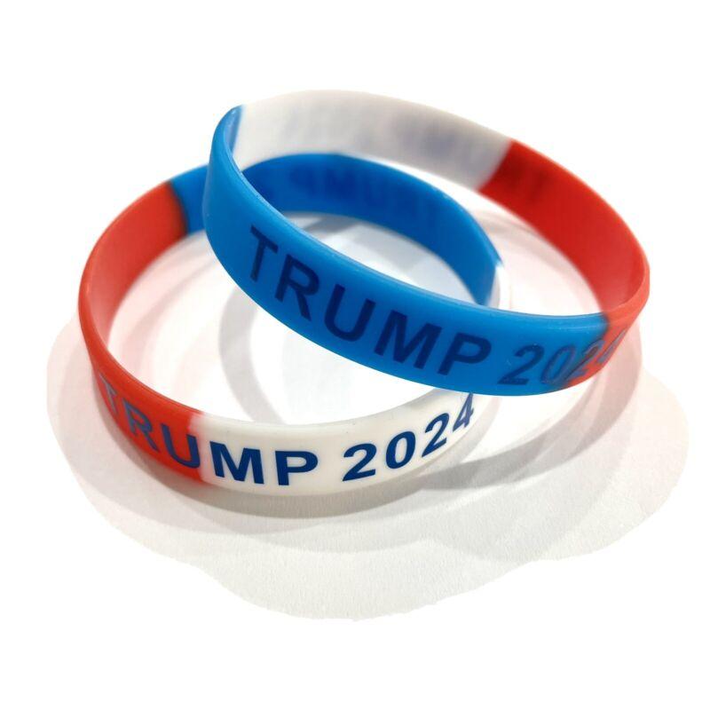 Trump 2024 Bracelet USA colors Trump 2024 Wristband