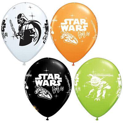 6 Star Wars Yoda Darth Vader Children's Birthday Party Printed Latex Balloons
