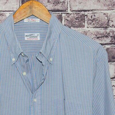 GANT Rugger the Hugger Men's Button Down Shirt Blue Striped Size XL