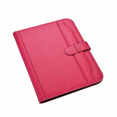 A4 Pink Conference Folder Portfolio Soft Padded Cover With Calculatorpad Cl-663