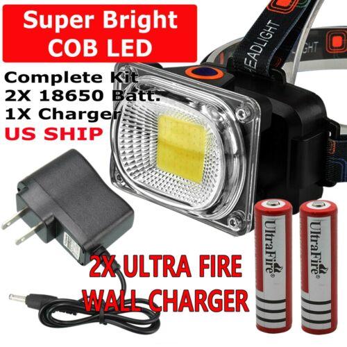 750000LM COB LED Headlamp Rechargeable Head Light Flashlight Torch Lamp USA