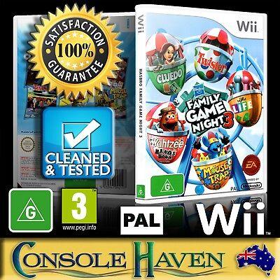 (Wii Game) Family Game Night 3 / III / Three (Hasbro) (G) (Board Games) PAL ()