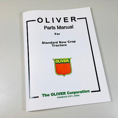Oliver Hart Parr Parts List Manual Catalog For Standard Row Crop Tractors Old