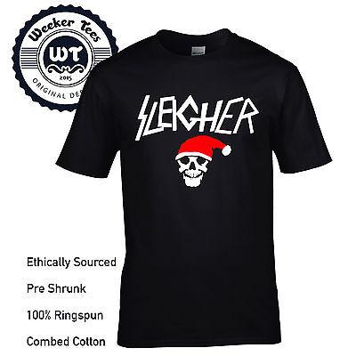 Sleigher Metall Style Weihnachten Hemd Neu Lustig Slayer Inspiriertes Design